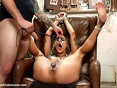 Nadia Styles returns to Sex and Submission with Tommy Pistol in this kinky role play with rough...