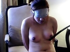 Hot asian slut is bound for bondage