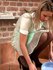 Samantha Jolie, the pretty young girdle maid