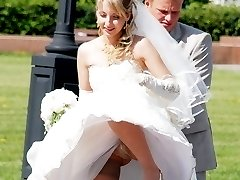 Very steamy bride upskirt pics