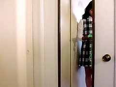 Changing room voyeur cam on a schoolgirl