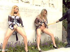 These two blondes will go to any length to please their dominant. After being publicly...