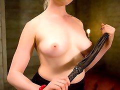Welcome to Lorelei\'s game, where in order to get fucked, Nomad must first endure 200 whacks.  She starts him in a rigid posture collar, gag, blindfold and a couple dozen wooden pegs, then makes him recite a list of creative compliments on his way to counting off 200 painful strikes.  Oh yeah, and his cock is locked in a painful cage the whole time.  Nomad makes his way through all the shoe sucking, ass worship, feet canning and ball beating he can stand before she finally relents and takes his hard cock into her cunt.  Was it worth it?  Nomad thinks so.