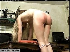 Time for her weekly punishment at home