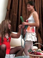 Kinky gal enjoys role play dressing her lover as a girl and packing his ass