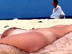 Nudists needs sex on beach. And does it!