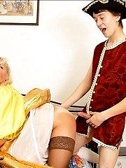older sluttish lady pleasing young stiff dickbr