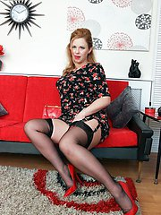Northern blondes go for it, and this MILF is all warmed up ready to go, teasing you in her 60s...