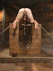 On his knees and a crop clenched in his teeth, Slave 153 awaits his new master, Vinnie Stefano....