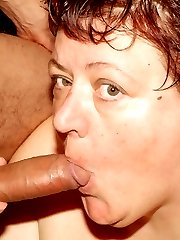 Sexy older BBW Agnes Eva dishes out her pussy and finish off with an amazing blowjob