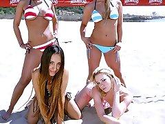 Four hot bitches expose their secret