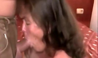 Smoking honey plays with her sexy tits and gets her pussy rammed by big cock