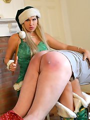 Christmas Elf Savana Styles Gives Spanking Present