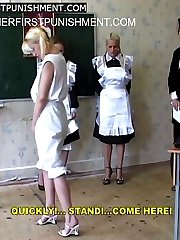 Three russian beauties brutally caned and humiliated