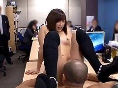 Ayumi Kimino on high heels sucks cock in PublicSexJapan.com