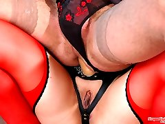 Sex-crazy sissy guy getting gaping ass after breathtaking strap-on fucking