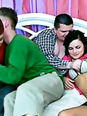 Lustful swingers make love togetherbr