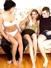 Babe with small tits learns to be a real swingerbr