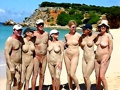 Voyeur shots with beach girls showing off skin