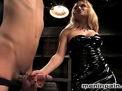 You smell like fear, little boy. Nothing makes Mistress Aidens pussy more wet than torturing...