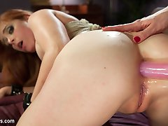 While lathering up her hot body in the shower, Lorelei Lee notices her cute horny lesbian...