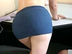Butterface slut bends over to have her ass reddened