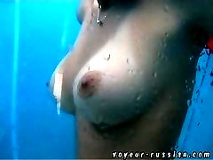 Classy small tits and even classier big ones get filmed by a spy whose cam is hidden in shower...