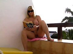 Nude on the beach of Fuerteventura