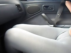 Alicia in car cameltoe