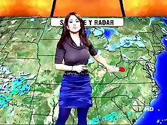 big titty weather girl with hard nipples