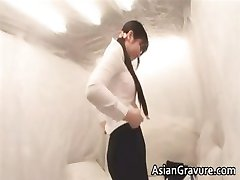 Sexy asian lady gets snatch massaged part4
