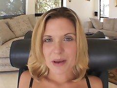 Blonde hottie loves a big cock up her ass