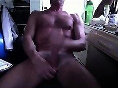 Hung Daddy Cum a Big Load