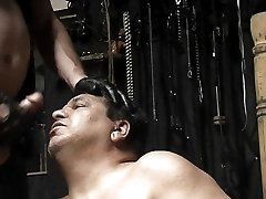 Gay dungeon bear sucking cock