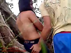 amateur couple fucking in the woods