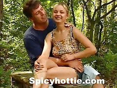 Sexy Teen Babe Banged In Forest