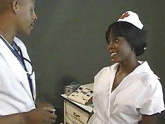 Ebony nurse fucked by doctor
