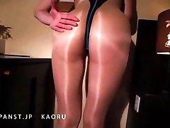Japanese MILF in Nylon, Pantyhose Legs