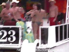 Pole Dancing and Naked 69 Slide Kiss