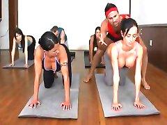 Funny and hot Yoga lesson  Franceska Jaimes,