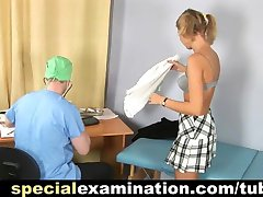 College babe and nasty gyno doctor