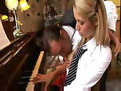 Piano lessons turn into some hot sucking and fucking in the ass