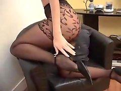 Suzana in black pantyhose