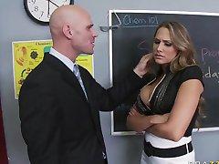 Alanah Rae fucks a teacher