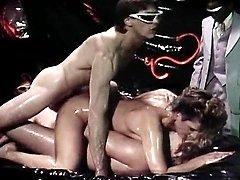 Erica Boyer, Marc Wallice, Steve Powers in hardcore double penetration from vintage porn