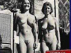 Vintage nudists get naked
