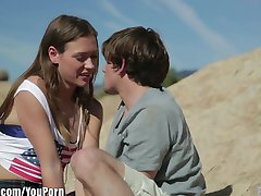 EroticaX Romantic couple making love for the first time