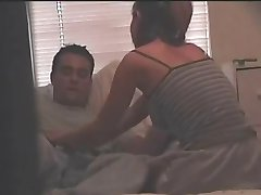guy fucking his girlfriend on hidden cam