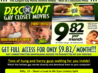 Discount Gay Closet Movies