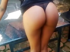 Super HOT ass spanked real hard by girl